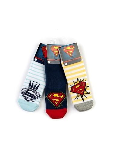 Superman  6 Çift Kaydırmaz Soket Çorap 17005 Kırmızı